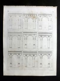 Heck 1849 Antique Architecture Print. Arches